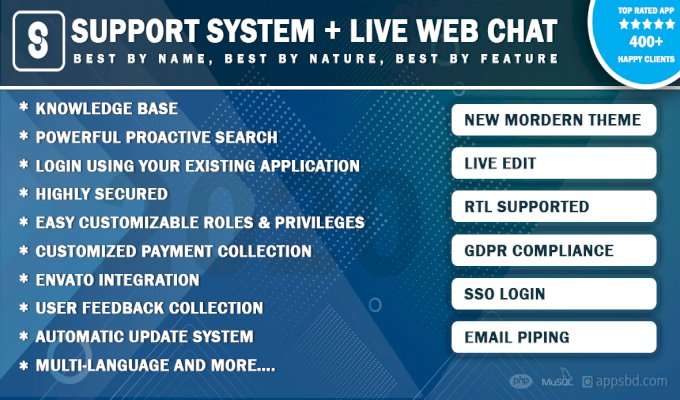 Best Support System-Live Web Chat & Client Support Desk & Support Ticket Help Centre