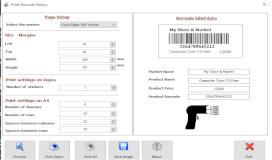 أنشاء و طباعة الباركود على طابعات زيبرا و على الطابعات العادية على شكل صفوف و أعمده بواسطة VB.NET